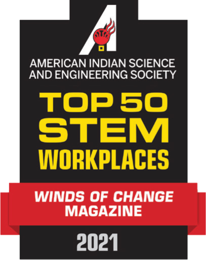 top 50 STEM workplaces logo