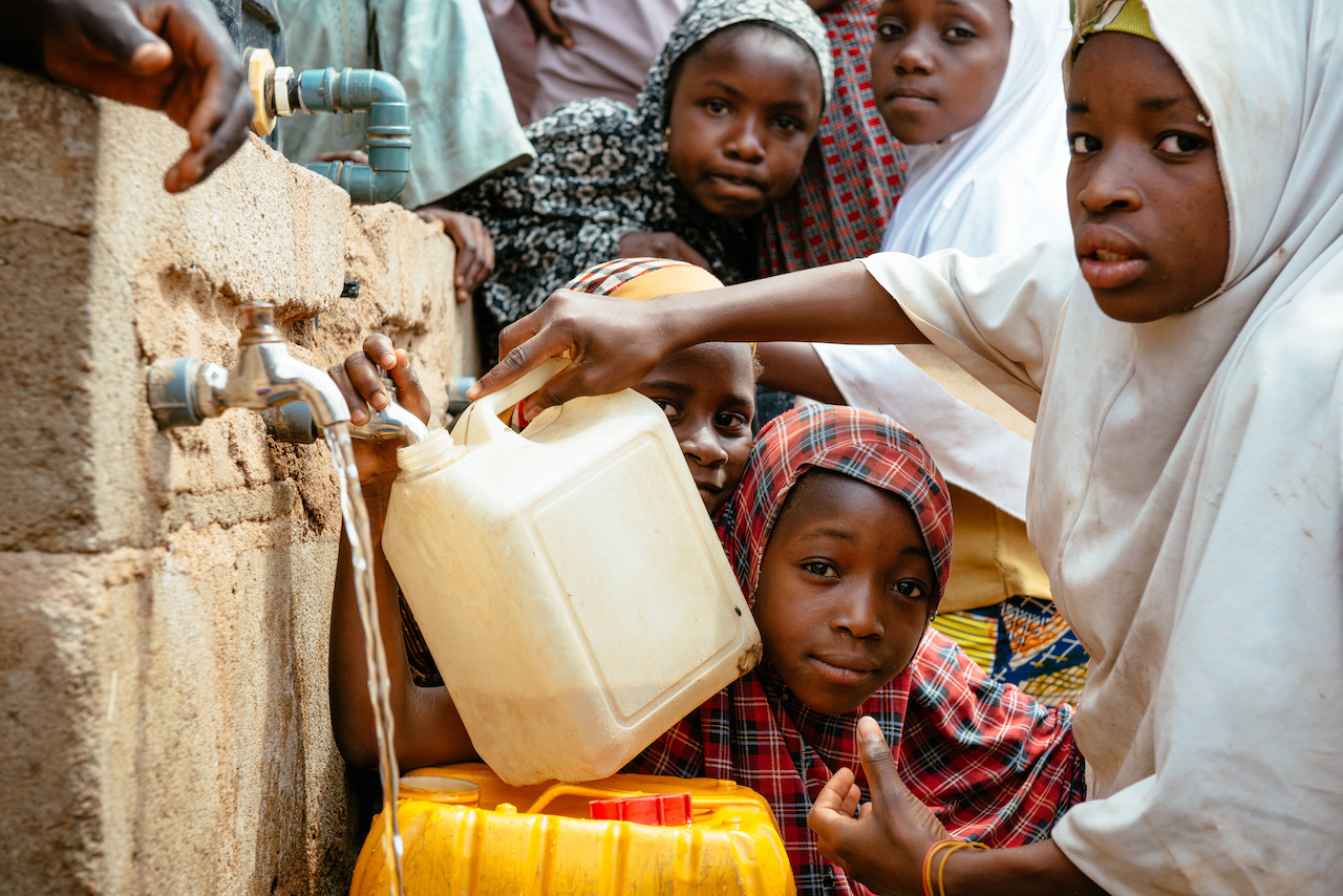 safe water for residents of a displacement camp in Damboa, Nigeria