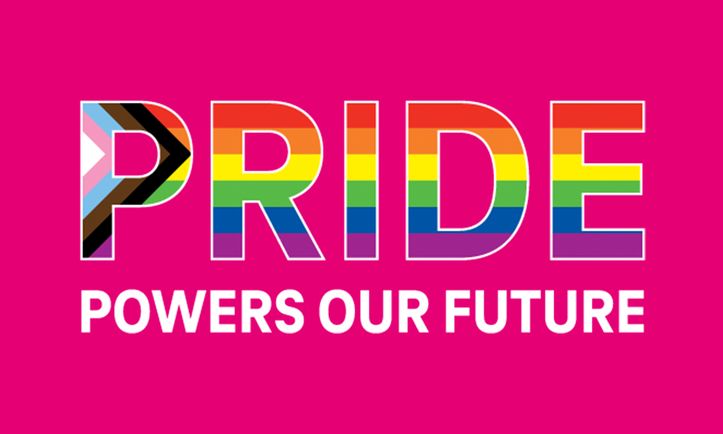 Pride Powers Our Future text