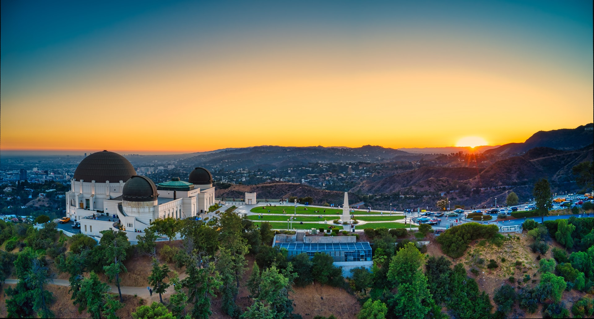 A view of the Griffith Park Observatory in Los Angeles, California, where the city has long had an urban tree planting program. Photo credit: Cameron Venti/Unsplash