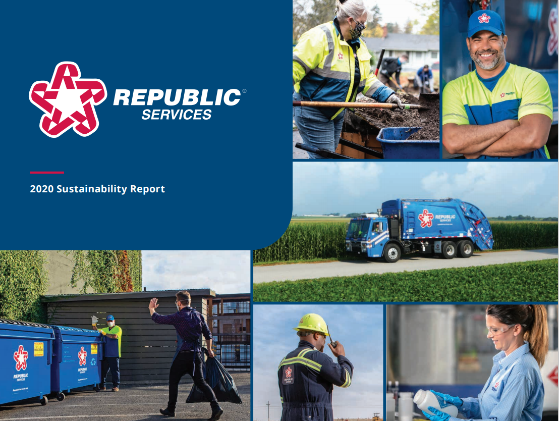 Republic services Sustainability report cover 2020