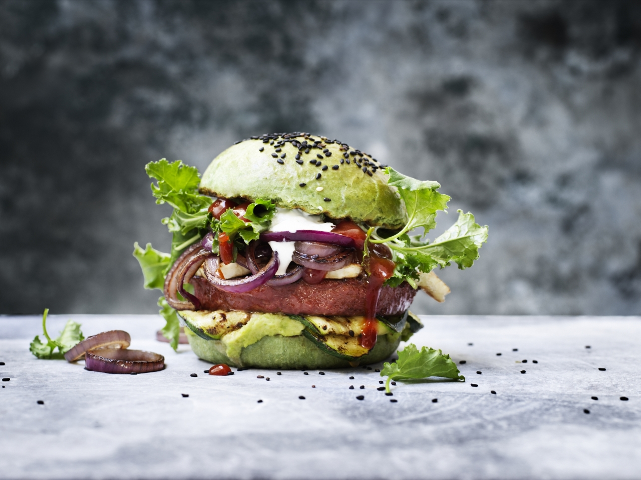 Grilled Green Burger