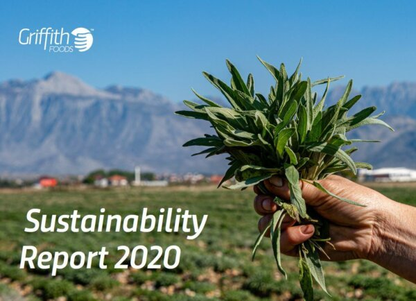Griffith foods 2020 Sustainability report cover