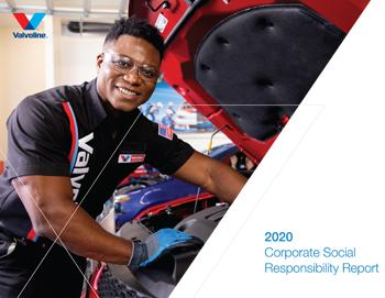 Valvoline CSR cover 2020/ mechanic working under hood of a car