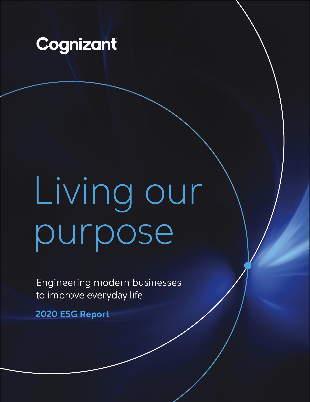 Cognizant ESG report cover 2020
