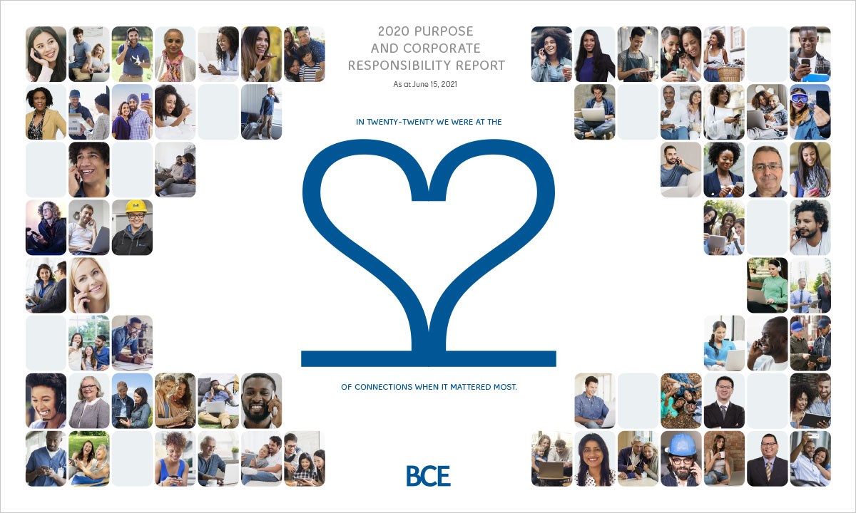 Bell Canada's 2020 Purpose and Corporate Responsibility Report cover