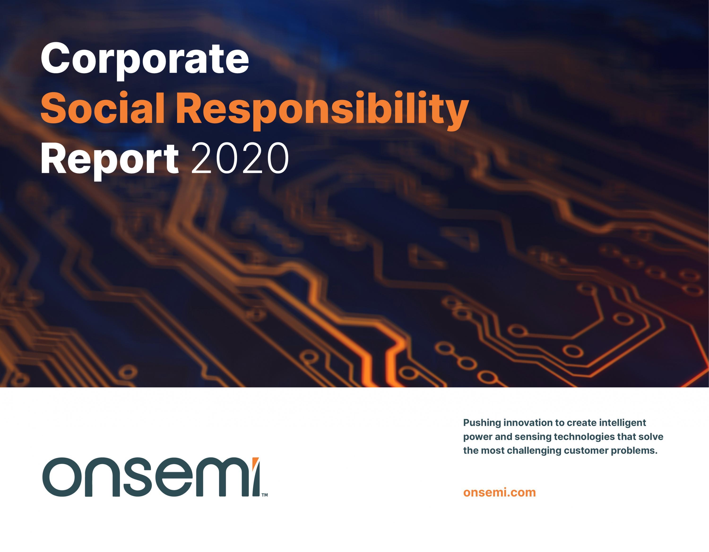 CSR report cover 2020 onsemi