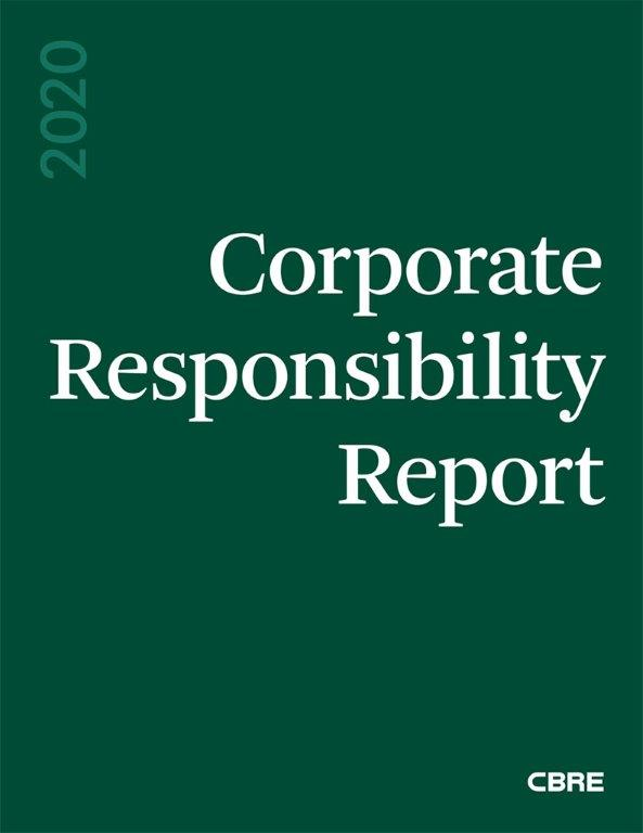CBRE's CR Report Cover