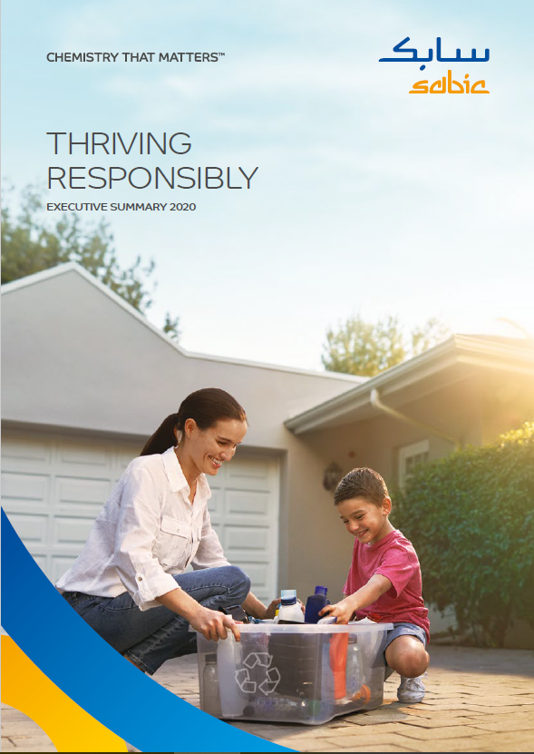 Sabic 2020 Sustainability Report cover