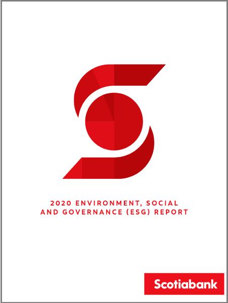 Scotiabank ESG report cover