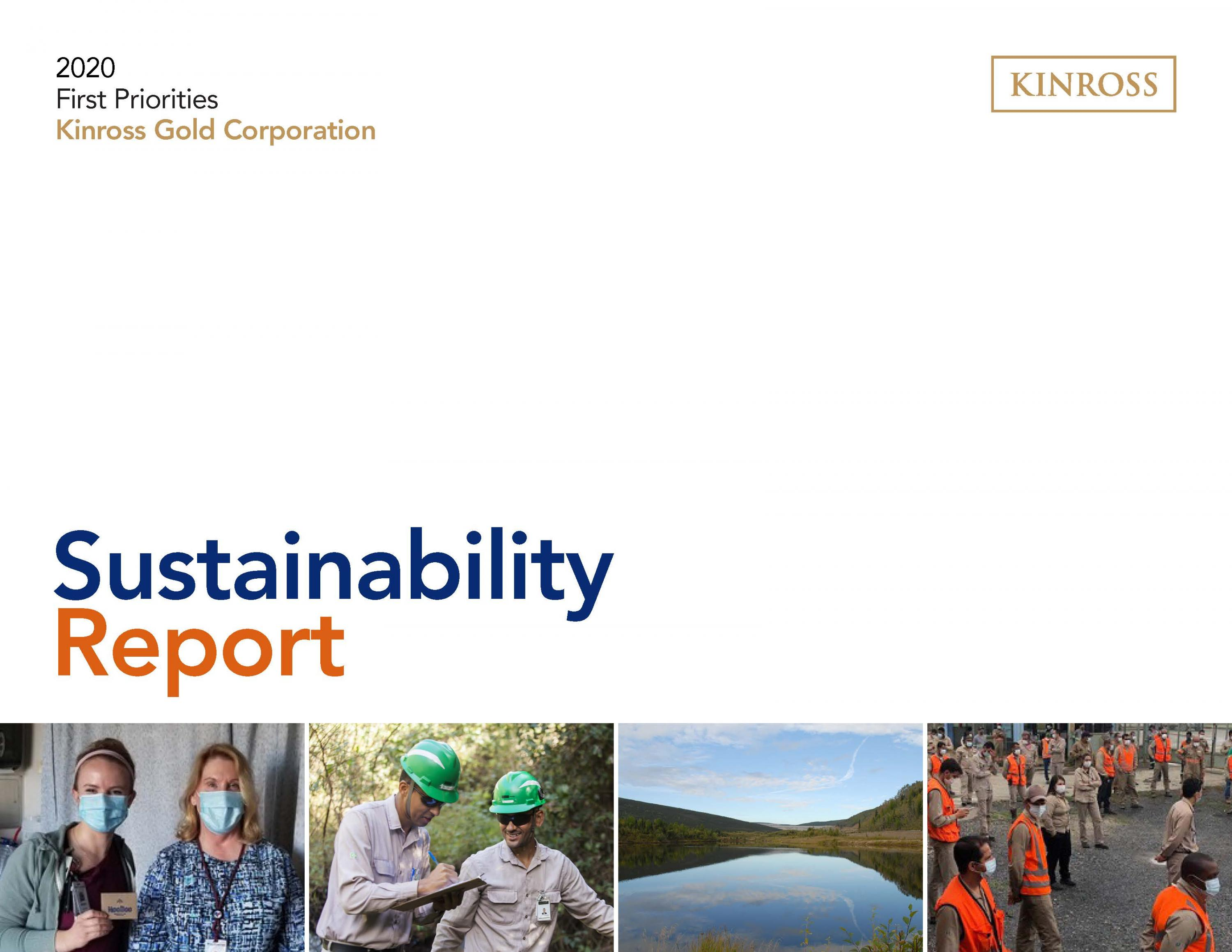 2020 Kinross Gold Sustainability Report Cover