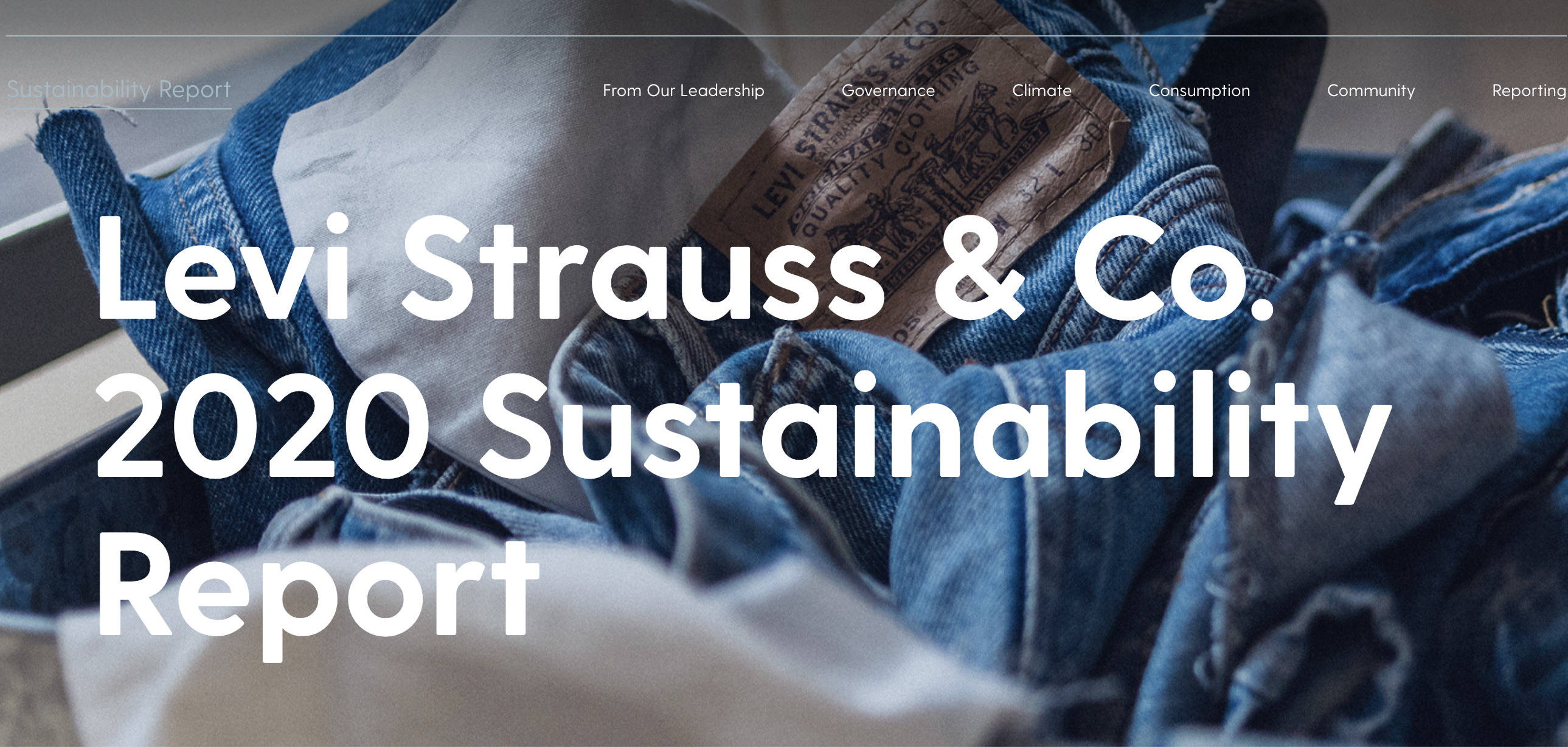 Levi Strauss & Co. 2020 Sustainability Report