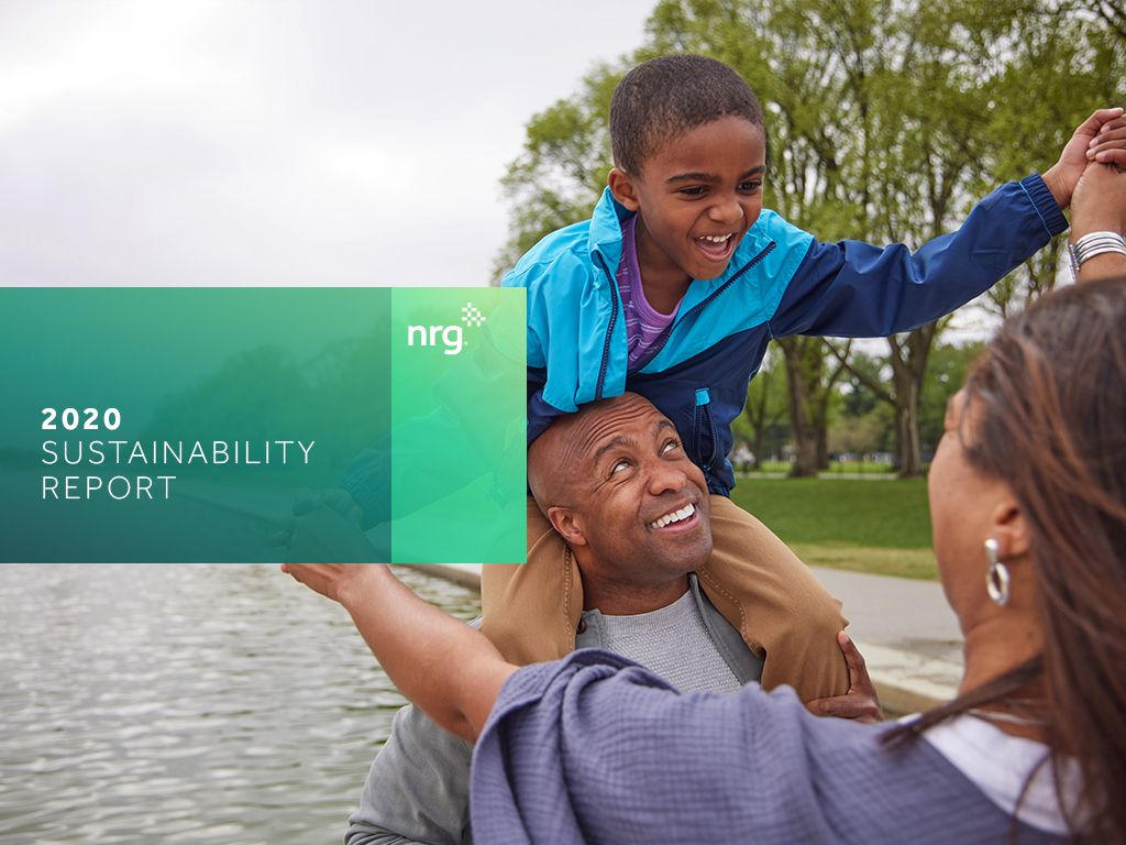 nrg 2020 Sustainability report cover