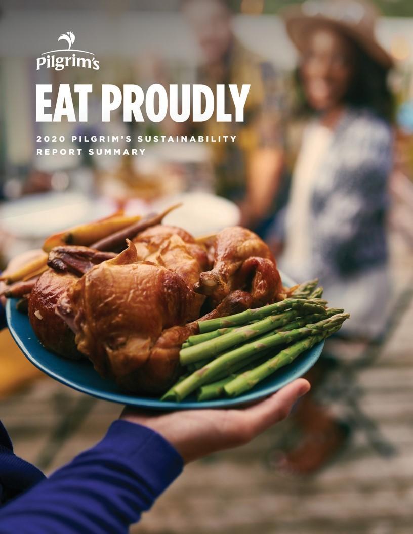 Pilgrim's Sustainability Report Cover