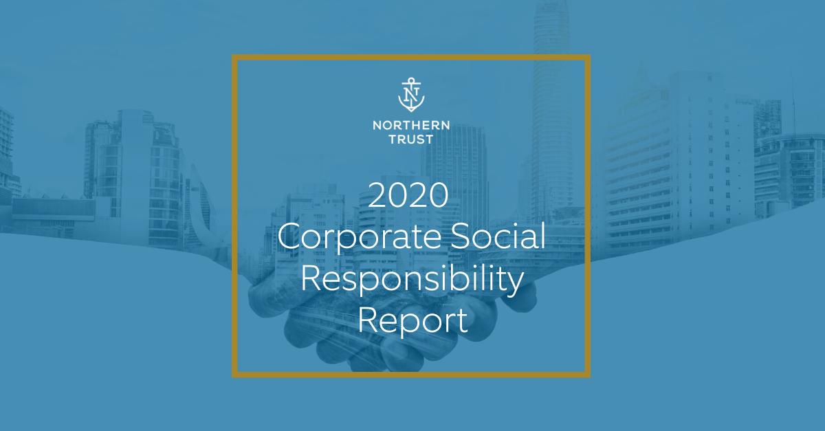 Northern Trust CSR report cover 2020