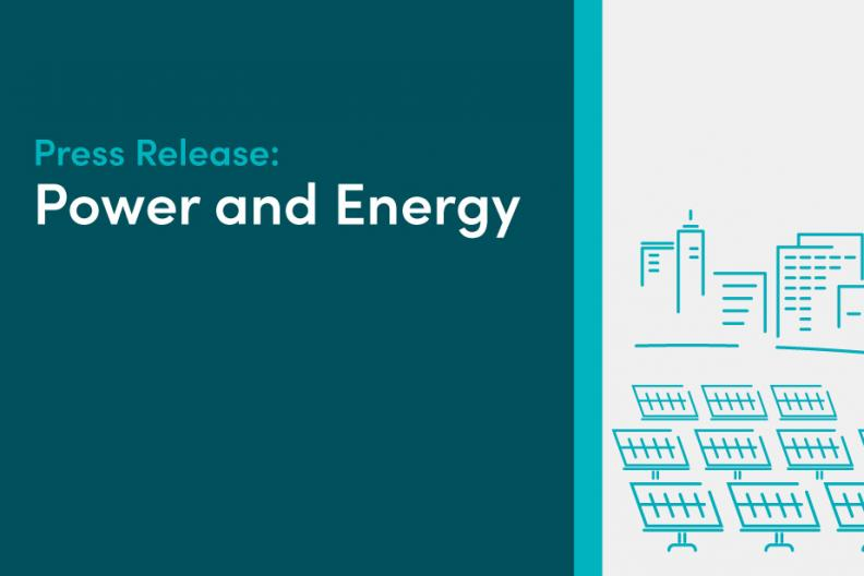 """Banner image reading, """"Press release: Power and Energy"""""""