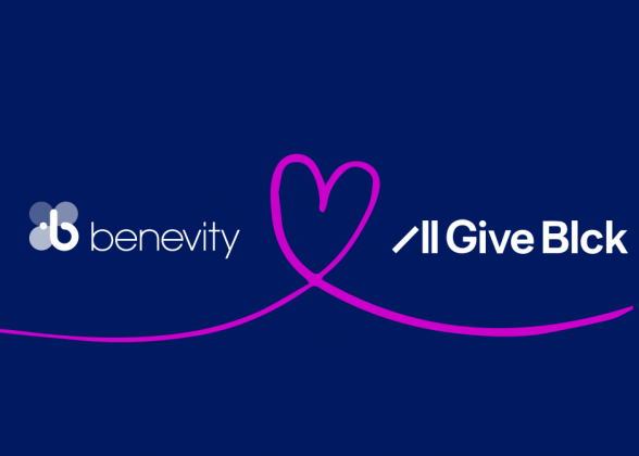 Benevity and GiveBlk logo banner