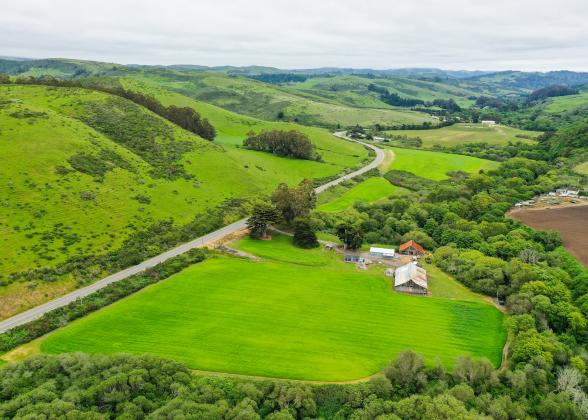 Image of rolling hills and farmland