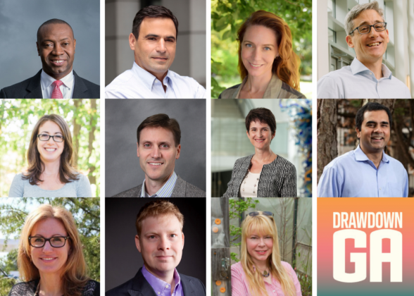 distinguished team of researchers whose work formed the basis for the Drawdown Georgia climate solutions road map to 2030 and beyond