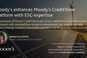 Moody's Enhances Flagship Moody's CreditView Platform With ESG Expertise Image