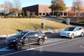 Peachtree Corners Smart City and The Ray Install USA's First Road Surface Solar Panels on Autonomous Vehicle Lane Image