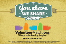 """VolunteerMatch and SUBWAY® Restaurants Team Up to Inspire Weekend Volunteerism with """"You Share, We Share"""" Campaign Image"""