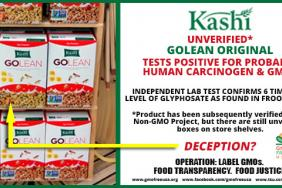 GMO Free USA Finds Carcinogenic Weedkiller and GMOs in Kashi GoLean Cereal Image