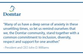Message From Domtar's President and CEO on Inclusion, Diversity and Respect Image