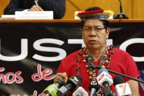 Protest Against Chevron's Contamination in Ecuador's Amazon Rainforest Image