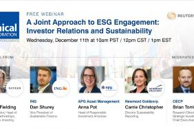 Webinar: A Joint Approach to ESG Engagement: Investor Relations and Sustainability Image