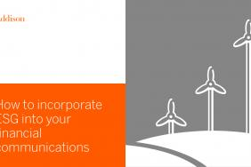 Learn How to Incorporate ESG Into Your Financial Communications in Free Webcast, July 25 Image
