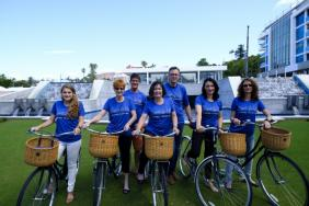 Bacardi Employees Travel Around Corporate Campus on Bicycles Image