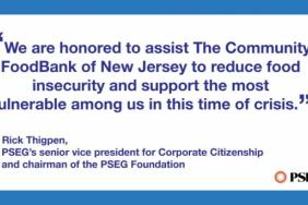 PSEG Foundation Supports the Community FoodBank of NJ's Efforts to Reduce Food Insecurity During COVID-19 Outbreak Image
