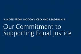 A Note From Moody's CEO and Leadership: Our Commitment to Supporting Equal Justice Image