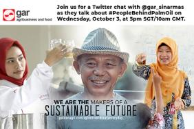 LIVE Twitter Chat on #PeopleBehindPalmOil with Golden Agri-Resources on October 3rd, 2018 Image