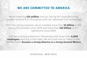 GM to Invest $22 Million in Spring Hill Plant for Advanced Engine Technology Image