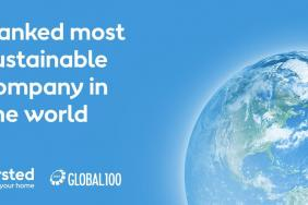 Global 100 Index: Ørsted Is the World's Most Sustainable Company Image