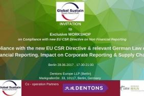 Global Sustain: Workshop on Compliance with new EU CSR Directive on Non Financial Reporting Image