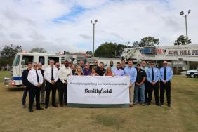 Smithfield Foods Donates $150,000 to Rose Hill, North Carolina Fire Department for New Ladder Truck Image