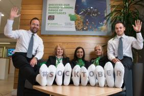 Socktober Appeal Launched by Yorkshire Building Society to Support the Homeless Image