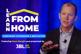 3BL Media to Host 'Learn from Home' Live Event, May 13: Corporate Citizenship and Reputation, Featuring Dave Stangis Image