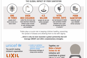 """UNICEF and LIXIL to """"Make a Splash"""" and Help Bring Sanitation to Children Around the World Image"""