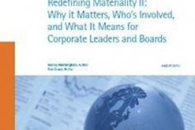 "AccountAbility Releases a Report on Materiality: ""Redefining Materiality II: Why It Matters, Who's Involved and What it Means for Corporate Leaders and Boards"" Image"
