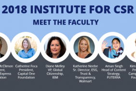 Institute for Corporate Social Responsibility Welcomes 2018 Faculty Image