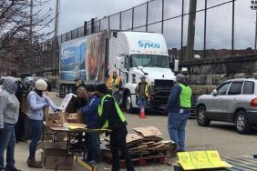 Patriots Foundation Teams up to Donate Food to Local Shelters, Food Banks Image