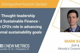 Moody's CFO to Address Leadership in Sustainable Value Creation at New Metrics 19 Image