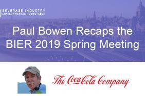 Paul Bowen Recaps the BIER 2019 Spring Meeting Image