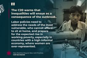 Urgent Statement by the Civil 20 to the G20 Virtual Summit on COVID-19: New Realities Require New Priorities Image