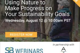 Panel Discussion-style Webinar on 'Using Nature to Make Progress on Your Sustainability Goals,' Hosted by the American Forest Foundation and Sustainable Brands Image