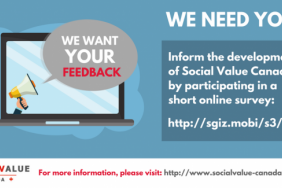 Take the Social Value Canada Survey Image